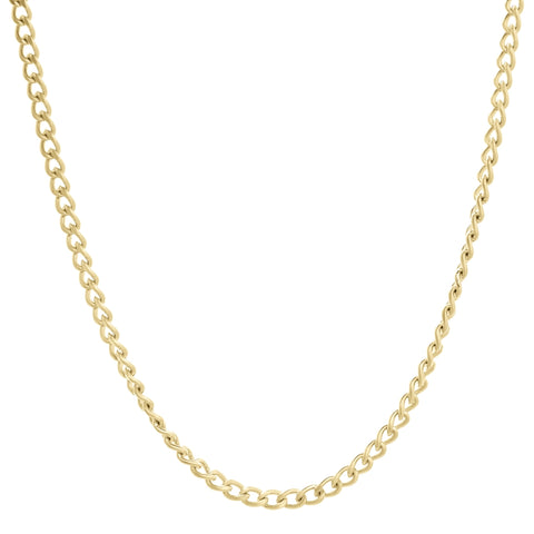 Stainless Steel Curb Chain Necklace