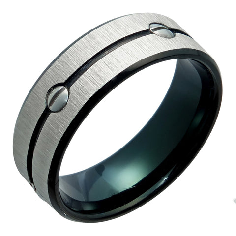 Image of Stainless Steel Ring with Black Ion Plating
