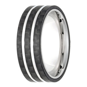 Stainless Steel and Forged Carbon Fiber Ring