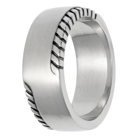 Image of Stainless Steel Ring with Black Plating