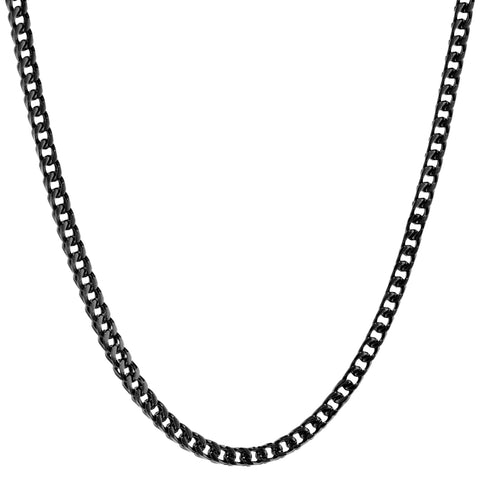 Stainless Steel Thick Foxtail Necklace, 22""