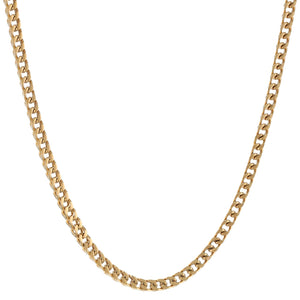Stainless Steel Thick Foxtail Necklace, 22