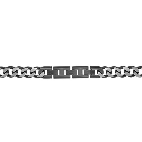 Stainless Steel Curb Chain Necklace, 22''