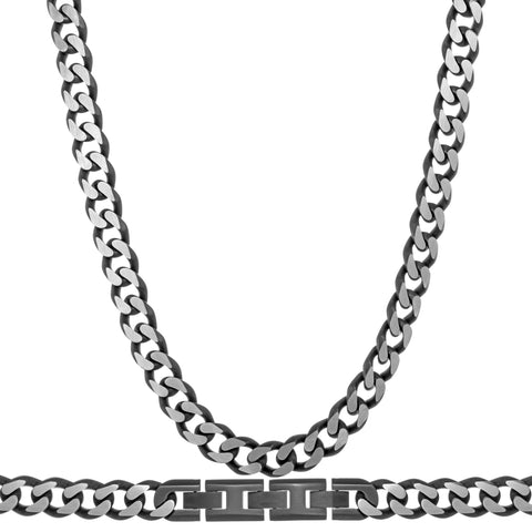 Stainless Steel 8mm Curb Chain Necklace