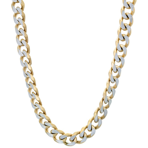 Stainless Steel Gold-tone Curb Chain Necklace