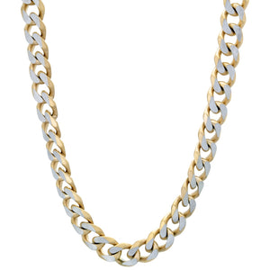 Stainless Steel Gold-tone Curb Chain Necklace, 24""