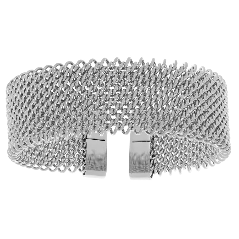 Stainless Steel Mesh Cuff Bangle