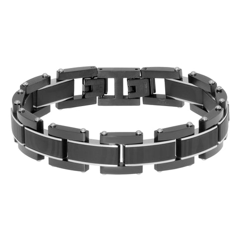Stainless Steel Bracelet with Black IP