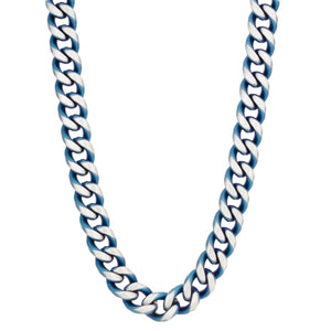 Stainless Steel Curb Chain with Blue IP