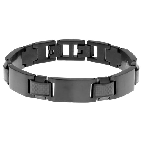 Image of Stainless Steel Bracelet with Carbon Fiber & Extender Lock