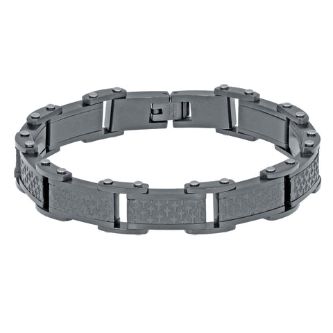 Image of Stainless Steel Bracelet with Black Ion Plating