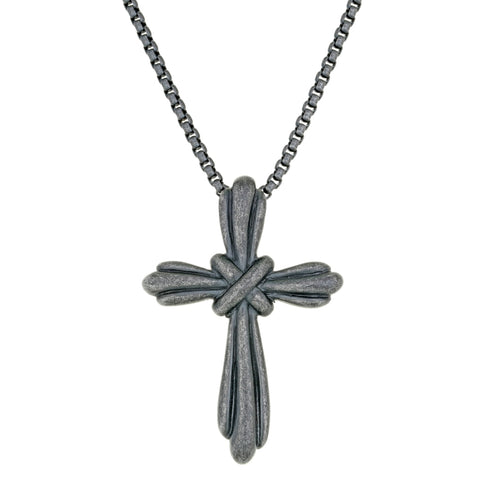 Image of Stainless Steel Cross Pendant with Black Ion Plating