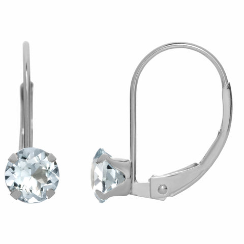 Gemstone Drop Earrings in 10K White Gold
