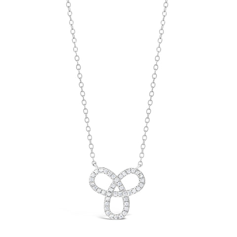 Image of Cubic Zirconium Celtic Knot Pendant in Sterling Silver