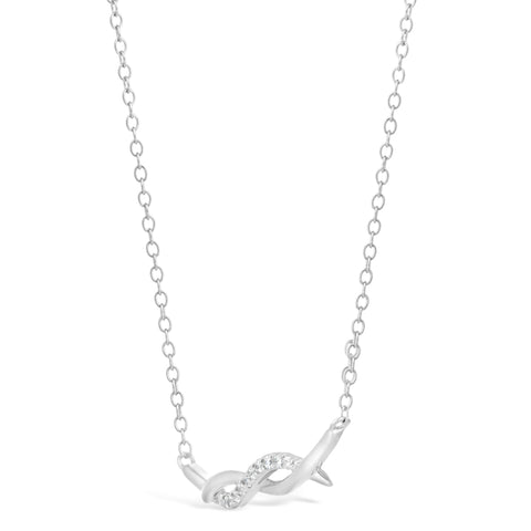 Image of Cubic Zirconium Twisted Pendant in Sterling Silver
