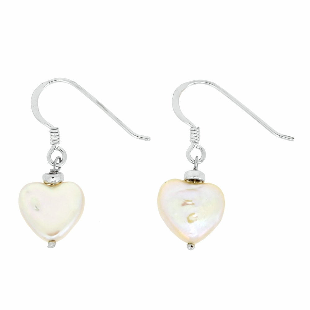 54a58a0f1 White Hammered Shape Shell Pearl Drop Earrings in Sterling Silver. Click to  expand