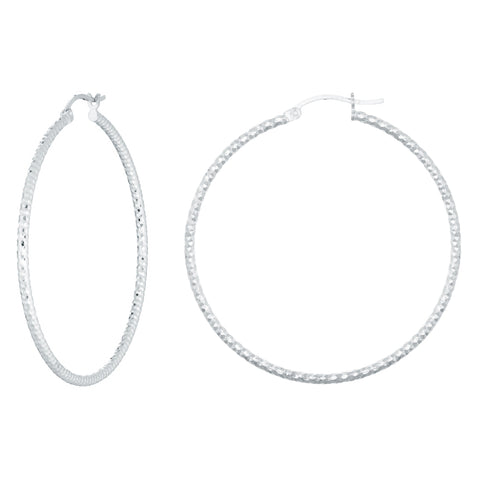 Image of Sterling Silver Hoop Earrings
