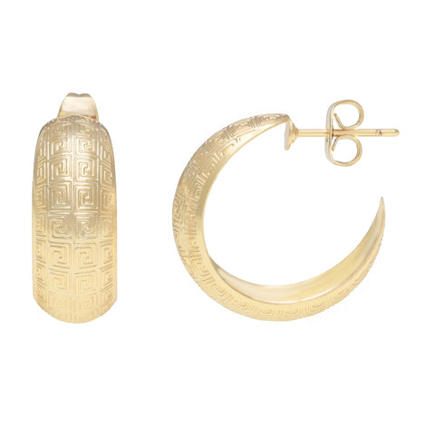 Gold Plated Over Brass Open Hoop Earrings