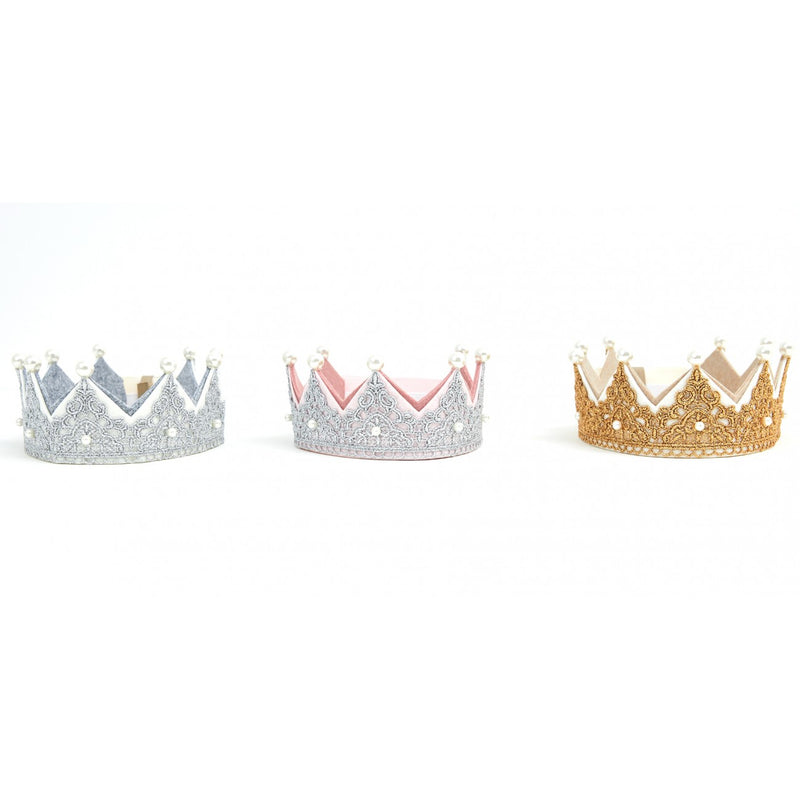 Petite Hailey - Pearl Lace Crown / Gold
