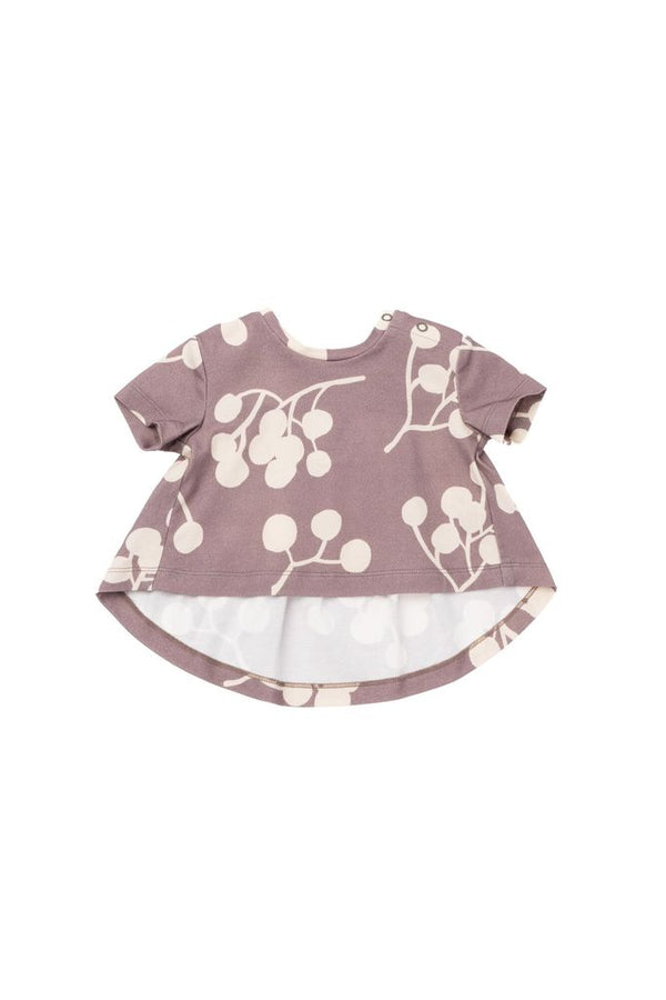 OMAMImini | Stone Berry Baby Ruffled Back T-Shirt