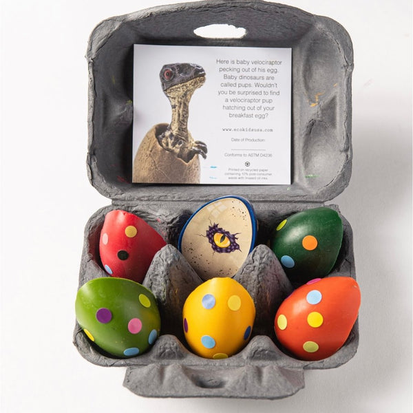 Eco-Kids | Dinosaur Eggs Beeswax Crayons