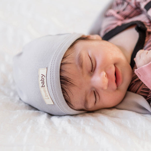 L'ovedbaby | Organic Cute Cap - Light Gray