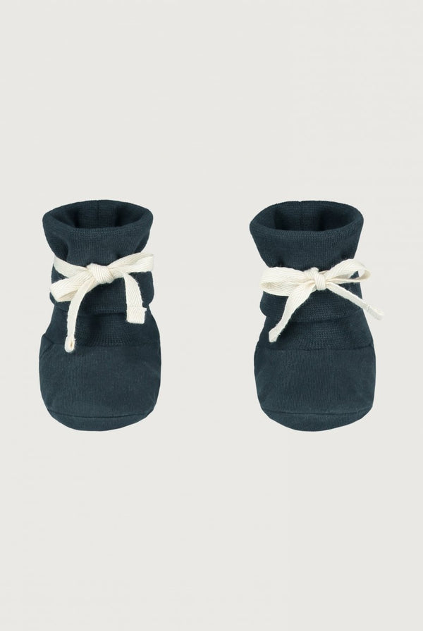 Gray Label | Baby Ribbed Booties - Blue/Gray