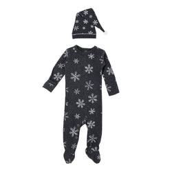 L'ovedbaby | Organic Christmas Overall and Cap Set - Frost