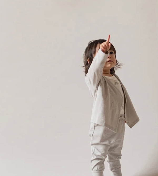 Pehr | Essential Wrap Cardigan - Dove Gray