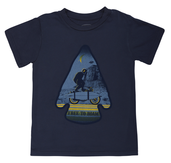 Tiny Whales - Free to Roam Tee - Navy
