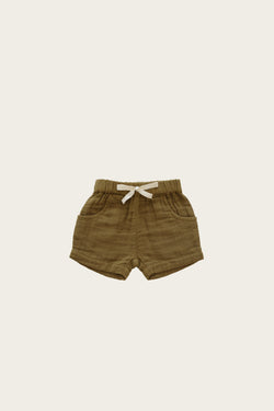 Organic Cotton Muslin Lily Short - Gold