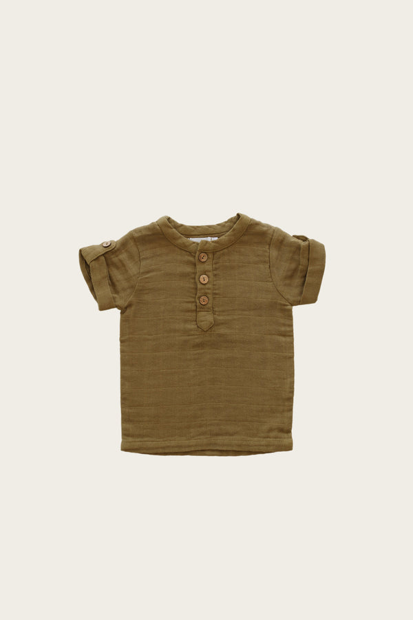 Jamie Kay | Organic Cotton Muslin Sammie Top - Gold