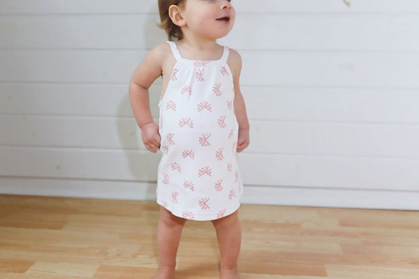 L'ovedbaby | Halter Dress - Copper Fans