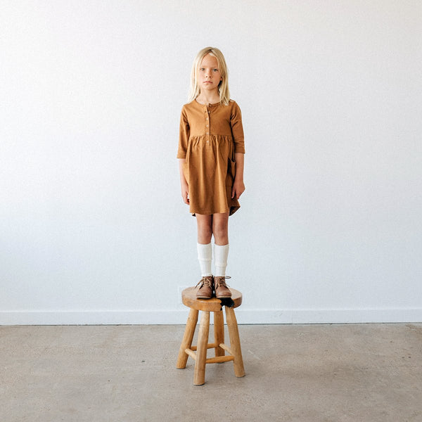 Kidwild | Organic Pocket Dress - Caramel