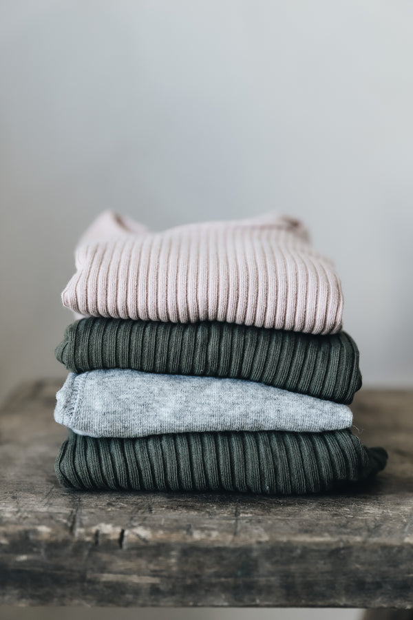 Lovely Littles - The Ribbed Tee / Mauve