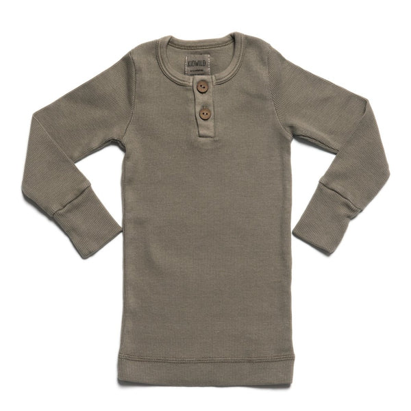 KidWild - Organic Vintage L/S Top / Moss - Seedling & Co.