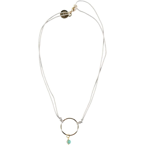 Búho - Necklace Gold Ring / Mint