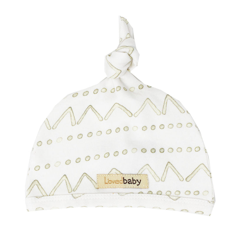 L'ovedbaby | Organic Top-Knot Hat - Sage Mountains