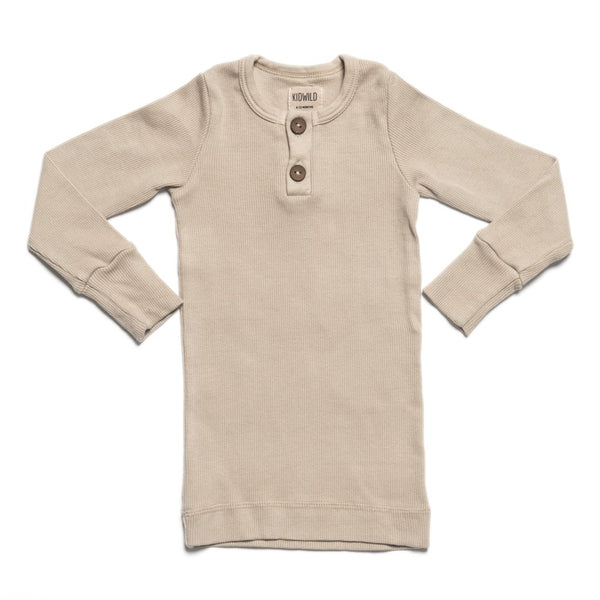 KidWild - Organic Vintage L/S Top / Oatmeal - Seedling & Co.