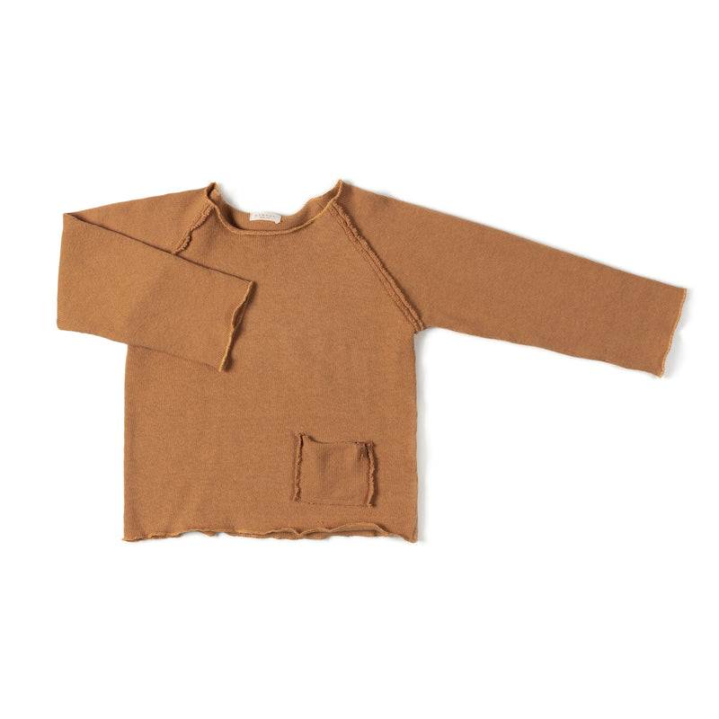 Nixnut | Raw Sweater Shirt - Camel