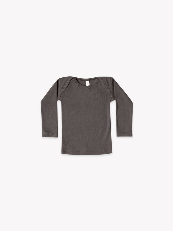 Quincy Mae - Ribbed Lap Tee - Coal