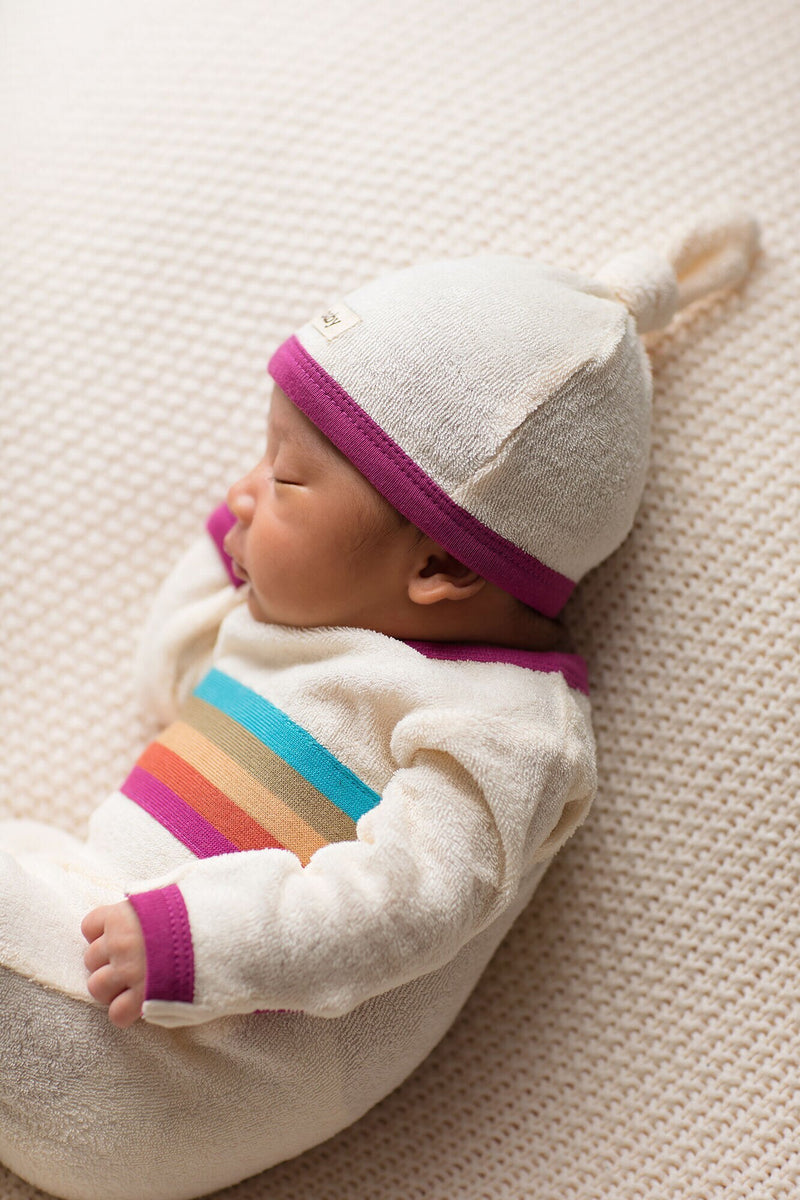 L'ovedbaby | Terry Cloth Top-Knot Cap - Magenta