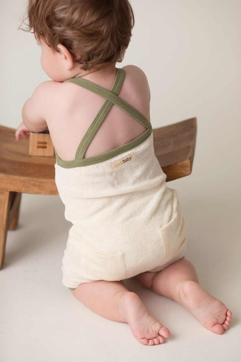 L'ovedbaby | Terry Cloth Overall - Sage