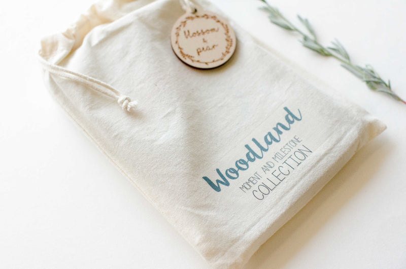 Blossom + Pear - Woodland Baby Moment and Milestone Cards - Seedling & Co.