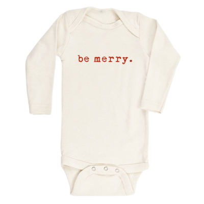 Tenth & Pine || Be Merry || Organic Long Sleeve Bodysuit