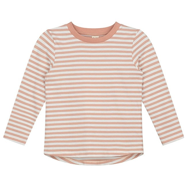 Gray Label | L/S Striped Tee - Clay/Cream Stripe