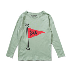 Munster Kids - Flag Pole L/S Tee in Shale Green