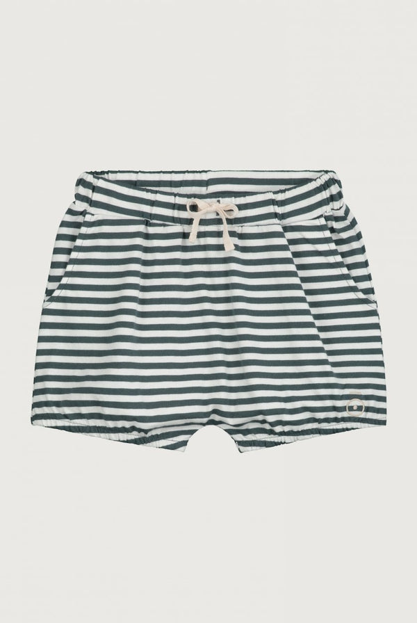 Gray Label | Puffy Shorts - Blue-Gray/Off-White Stripe