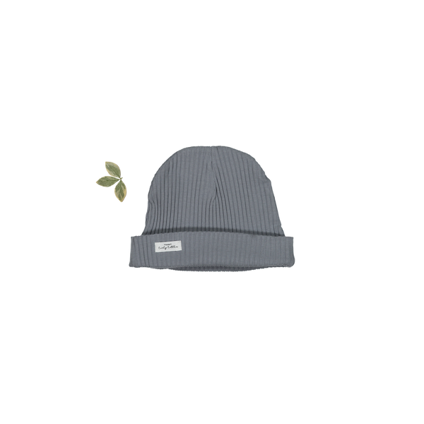 Lovely Littles - The Ribbed Hat / Slate