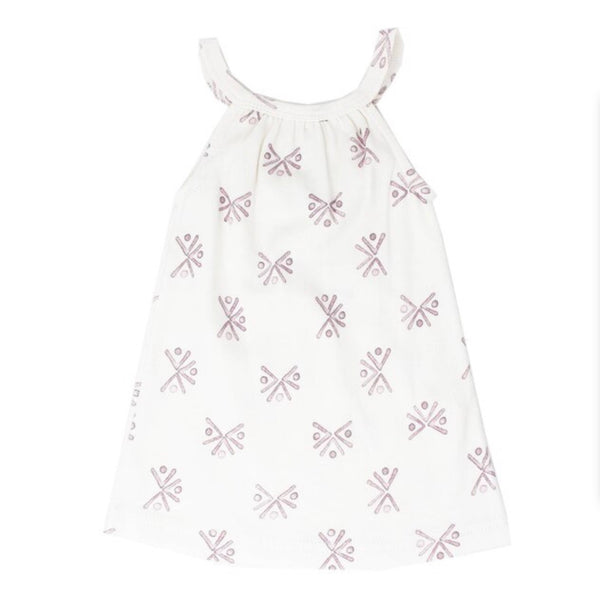 L'ovedbaby | Kid's Halter Dress - Lavender Fans